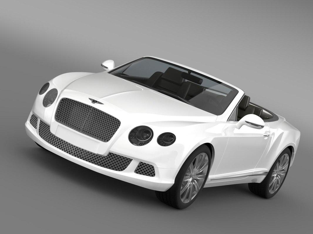 3d model bentley continental gtc 2011