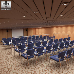 conference room chairs office 3d model