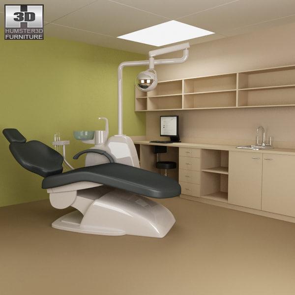 dental surgery hospital 03 3d model