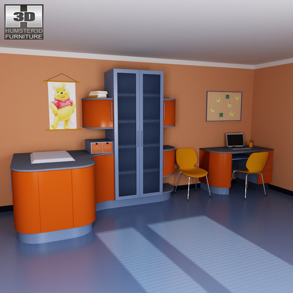 3d model nursery room 08 set