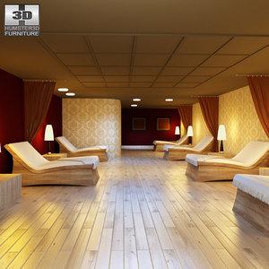 3d rest room 01 set model