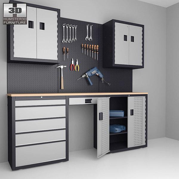 garage 03 set - 3d model