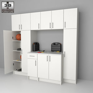 3d garage furniture 02 set