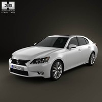 3d model of lexus gs 2012