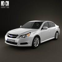 3d model subaru legacy sedan 2011