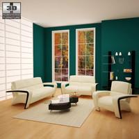 3d model living room furniture 08