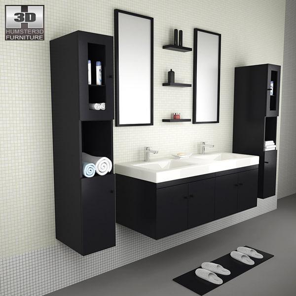 3d model bathroom furniture 08 set
