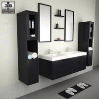 3d model bathroom furniture 08 set