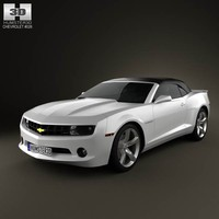3d model chevrolet camaro 2lt rs