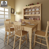 3d dining room furniture 6 model