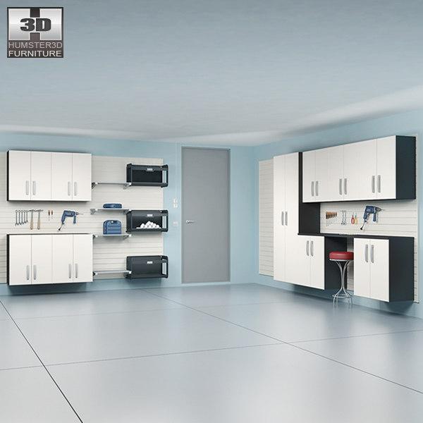 garage furniture 04 set 3d model