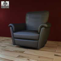 ikea alvros swivel armchair 3d model