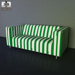 ikea klippan sofa - 3d 3ds