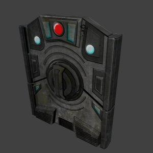 3dsmax sci-fi door