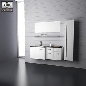 3ds max bathroom furniture 09 set