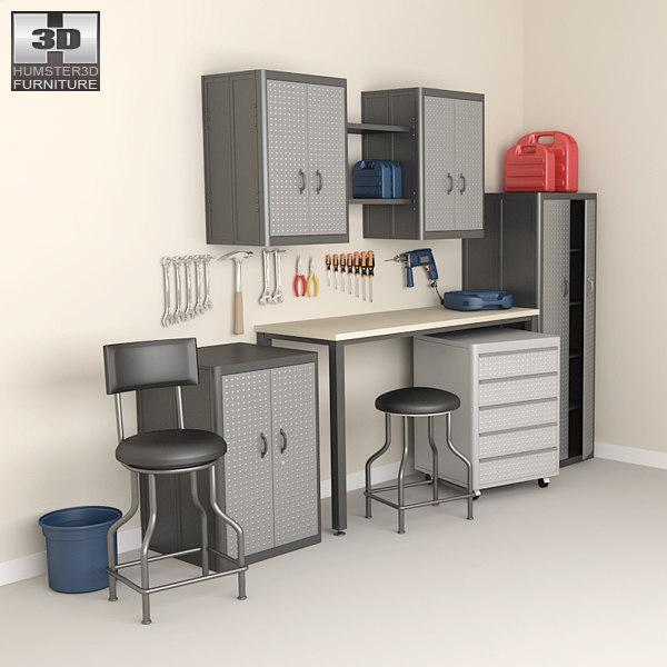 garage furniture 05 set 3ds