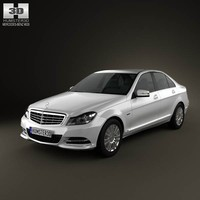 mercedes-benz c-class sedan 2012 3d model