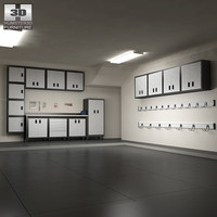 3d garage furniture 06 set model