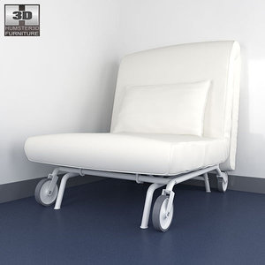 ikea ps lovas chair-bed c4d