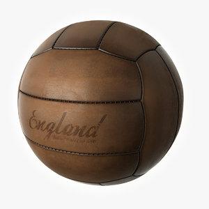 3d model vintage soccer ball