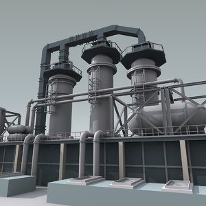 refinery unit 2 3d 3ds