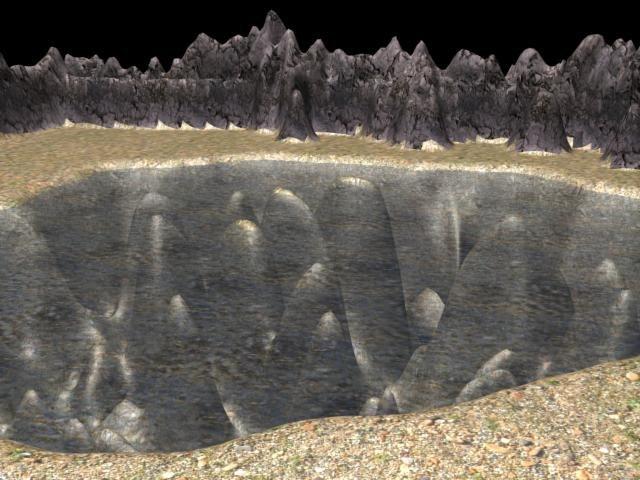 lake rock 3d model
