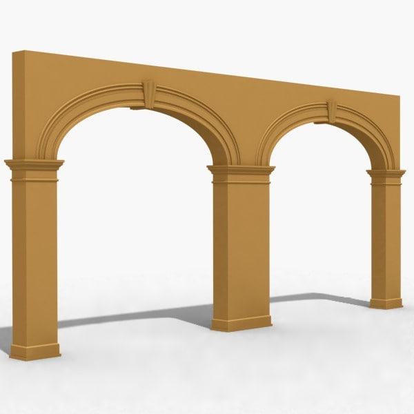 3d model of arch 2