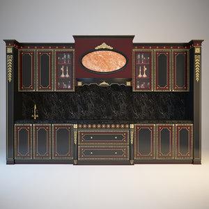 3d model kitchen bordignon camillo arrogance