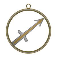 zodiac sagittarius symbol 3d blend