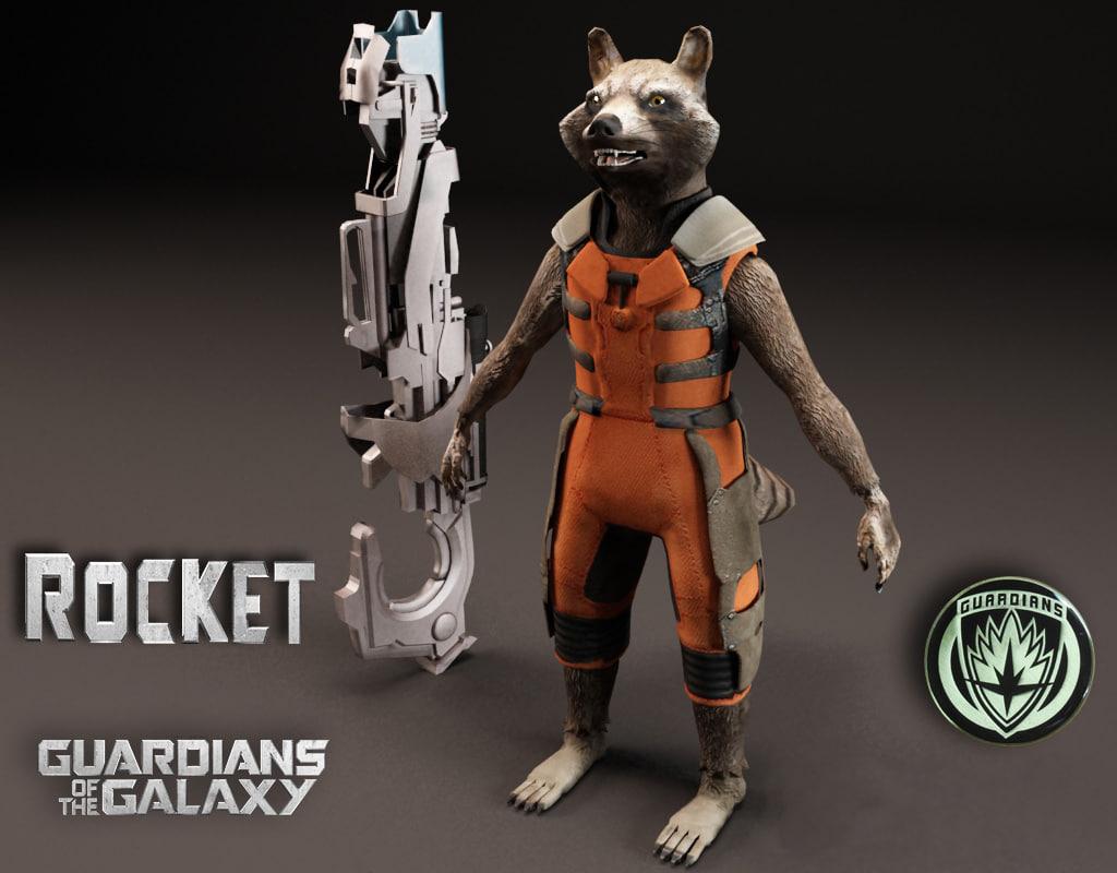 3d model of rocket guardian