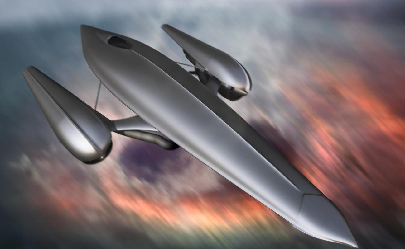 3d x spaceship
