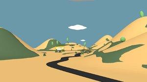 free cartoon land 3d model
