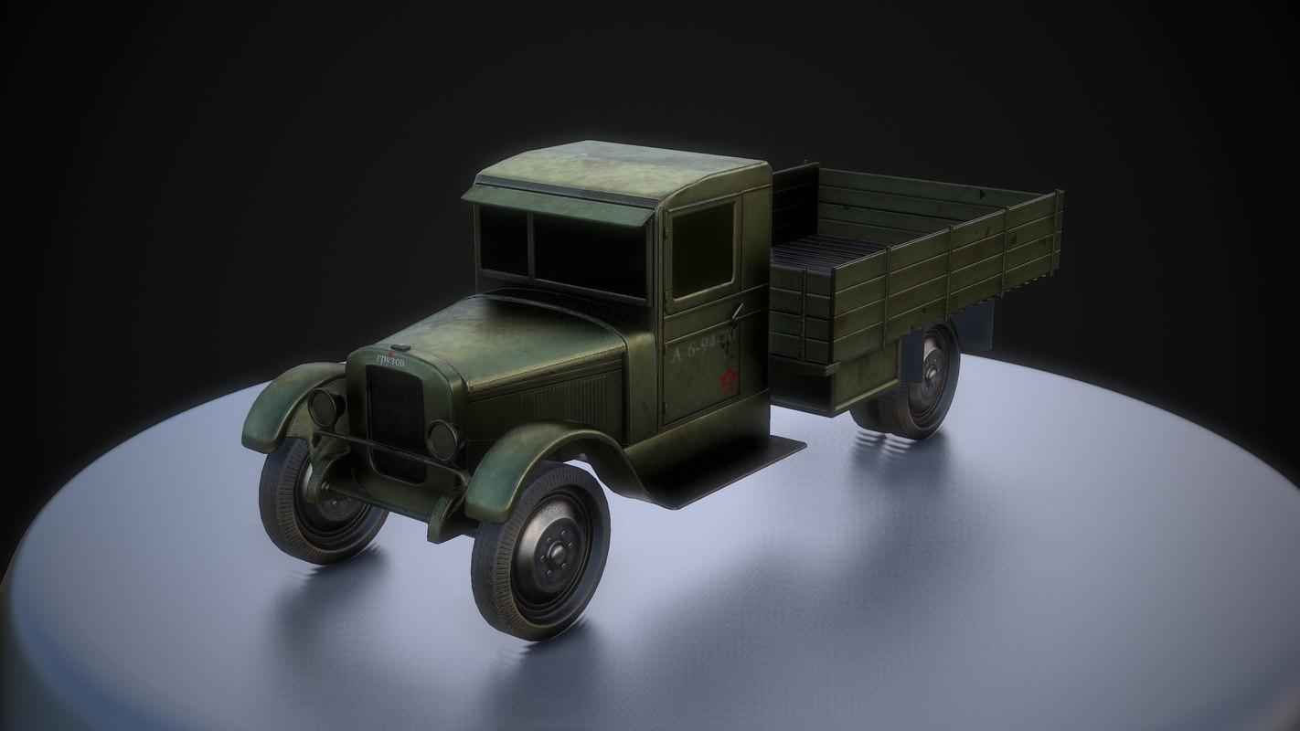 free ma model soviet truck cargo