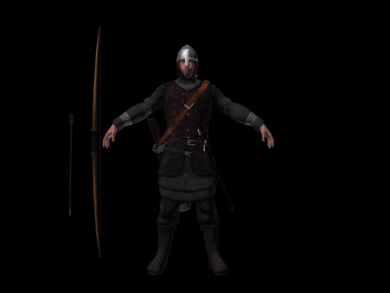 3d medieval archer