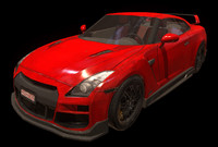 3d model nissan gtr skyline car