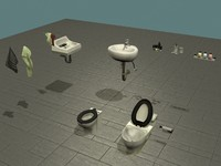 Bathroom set (toilet / bathtub / soap)