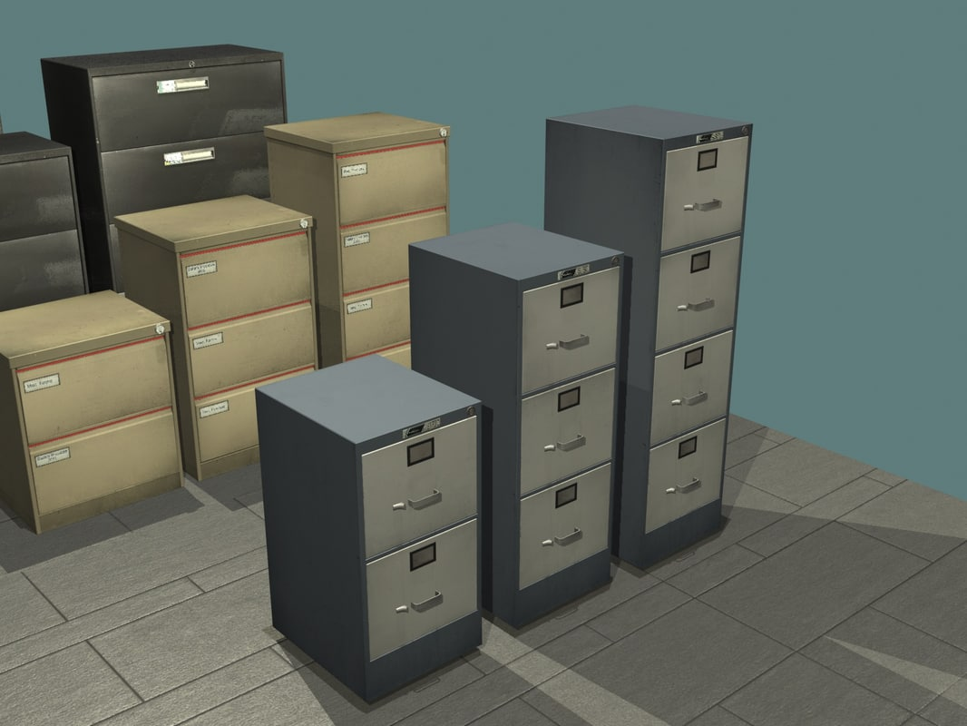3ds max filing cabinet set