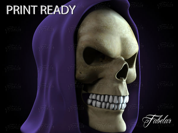 3d model of skeletor head