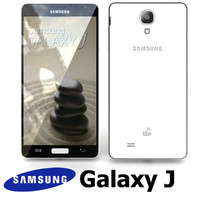 3d samsung galaxy j white model