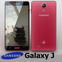 3d samsung galaxy j pink
