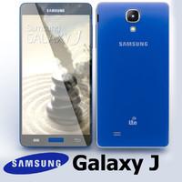 3d samsung galaxy j blue model