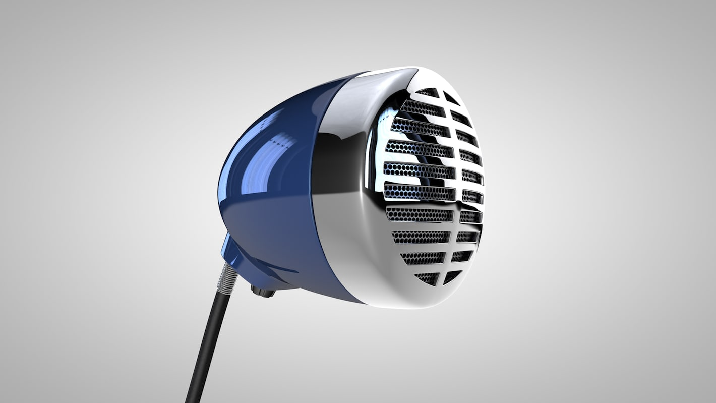 3d shure 520dx microphone