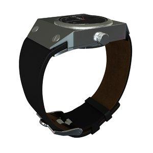 wristwatch diesel 3d obj