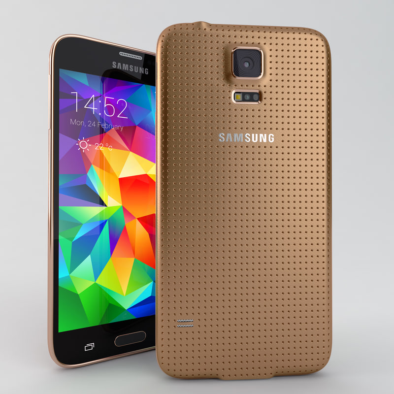 samsung galaxy s5 mobile phone 3d max