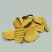 potato chip 3d model