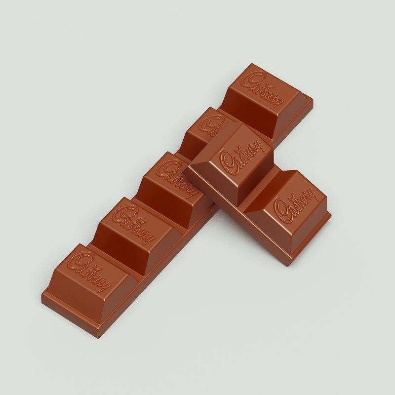 chocolate cadbury 3d model