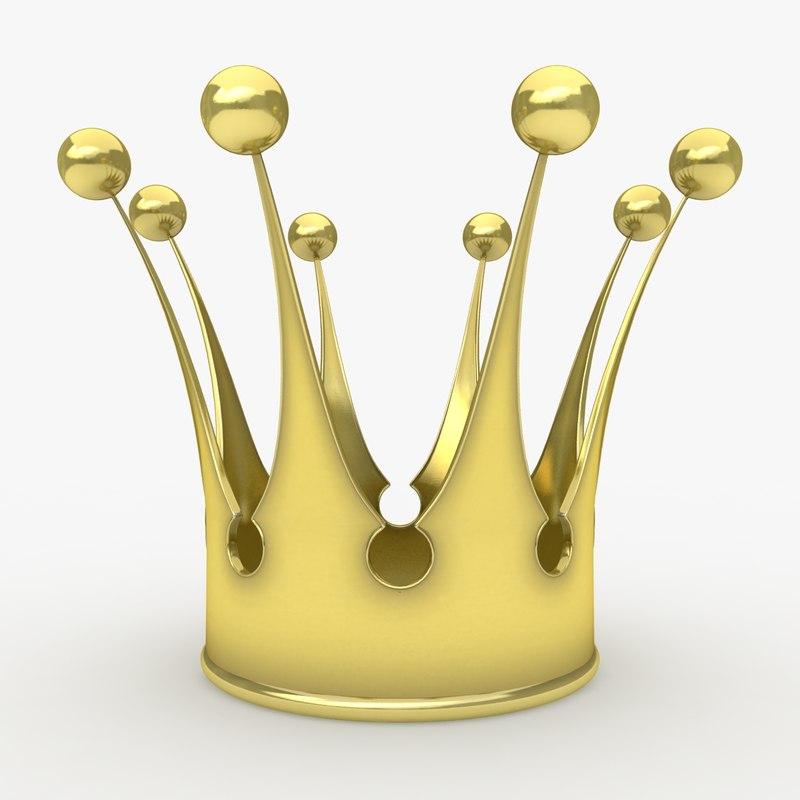 3d model of crown 1