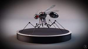 robot insect 3ds