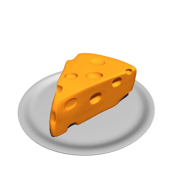 3d model block cheese