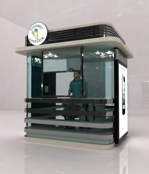 3d model public cabinet